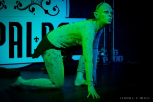 Bilbo/Gollum Act for Lord of the Pasties: The Two Tassels at the Red Palace, Washington, DC, December 2012.